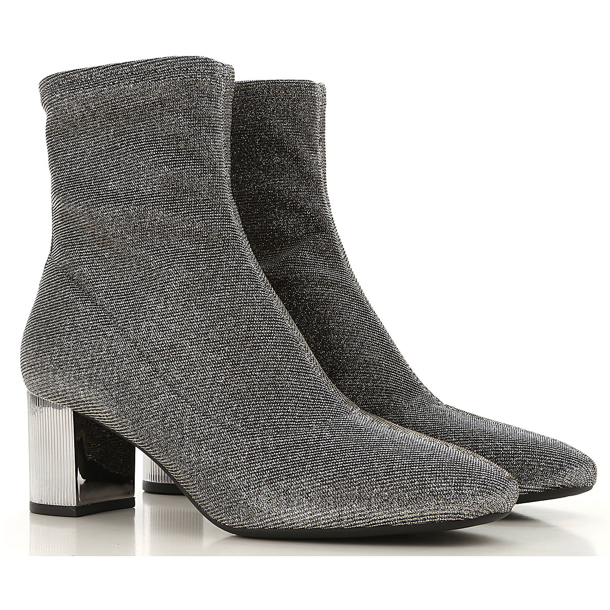 Michael Kors Boots for Women, Booties On Sale in Outlet, Silver, Fabric, 2019, 6 8