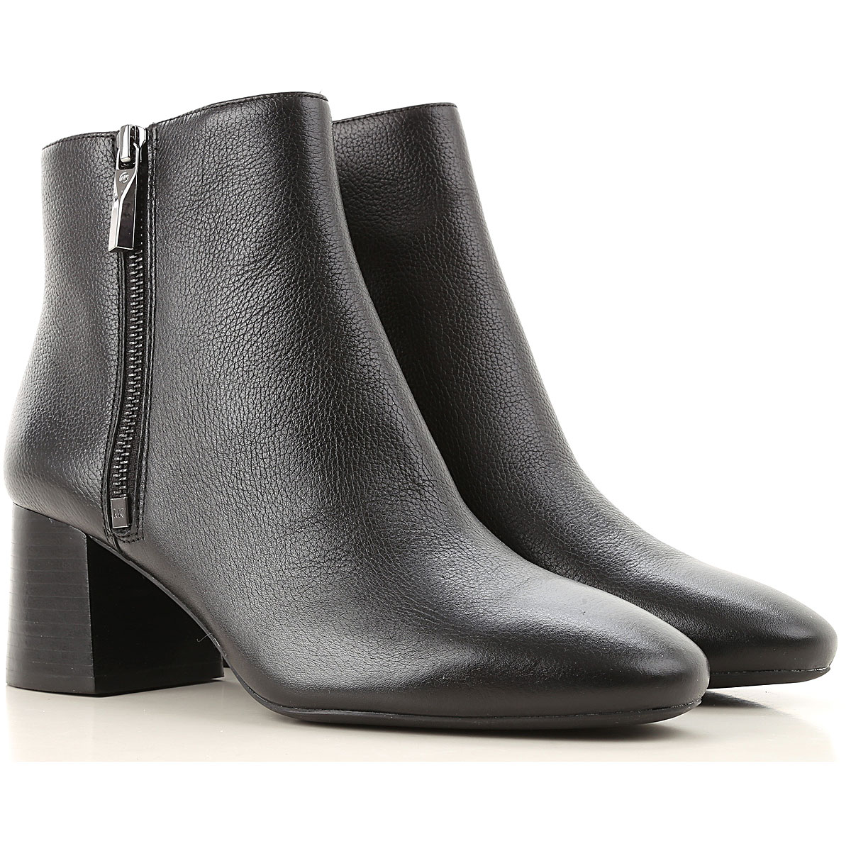 Michael Kors Boots for Women, Booties On Sale, Black, Leather, 2019, 10 6 9