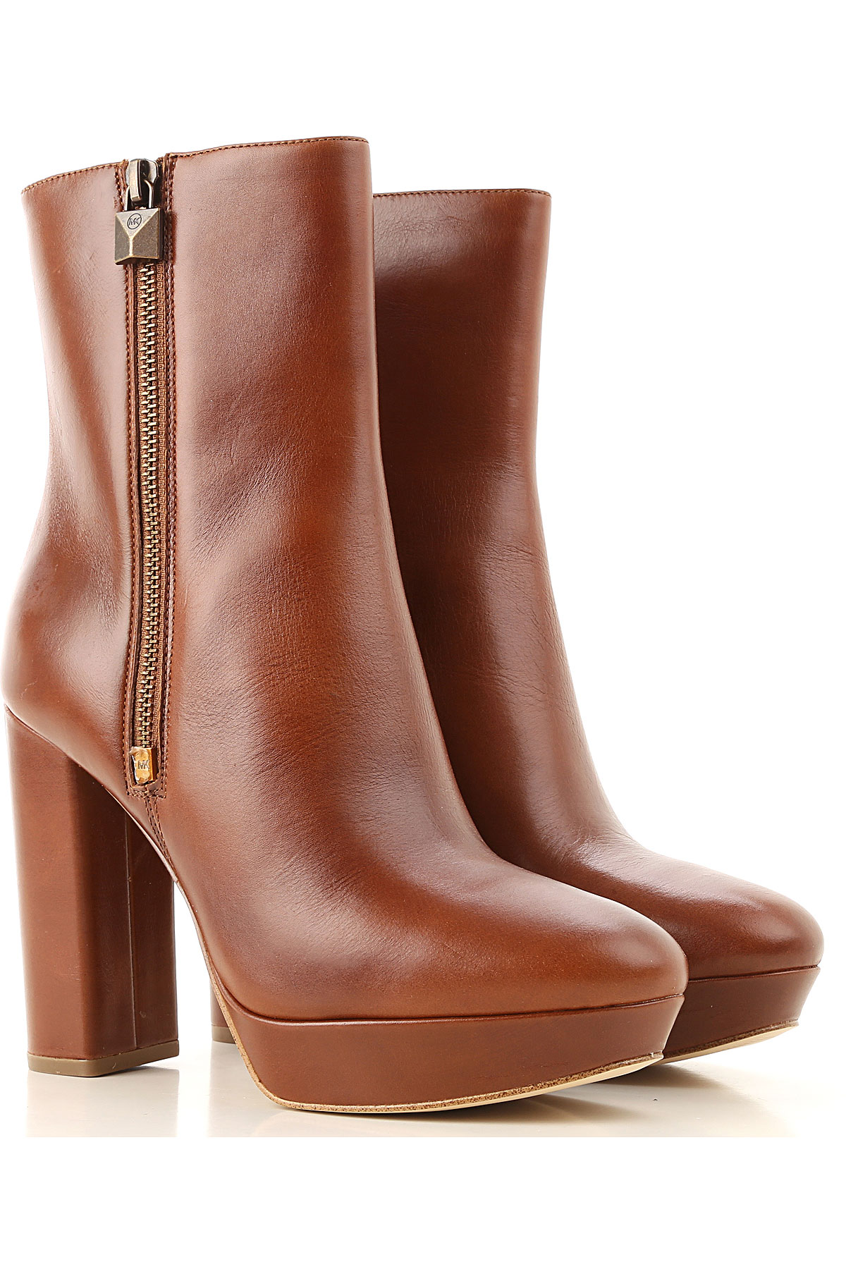 Michael Kors Boots for Women, Booties On Sale, Caramel, Leather, 2019, 10 7 8 9