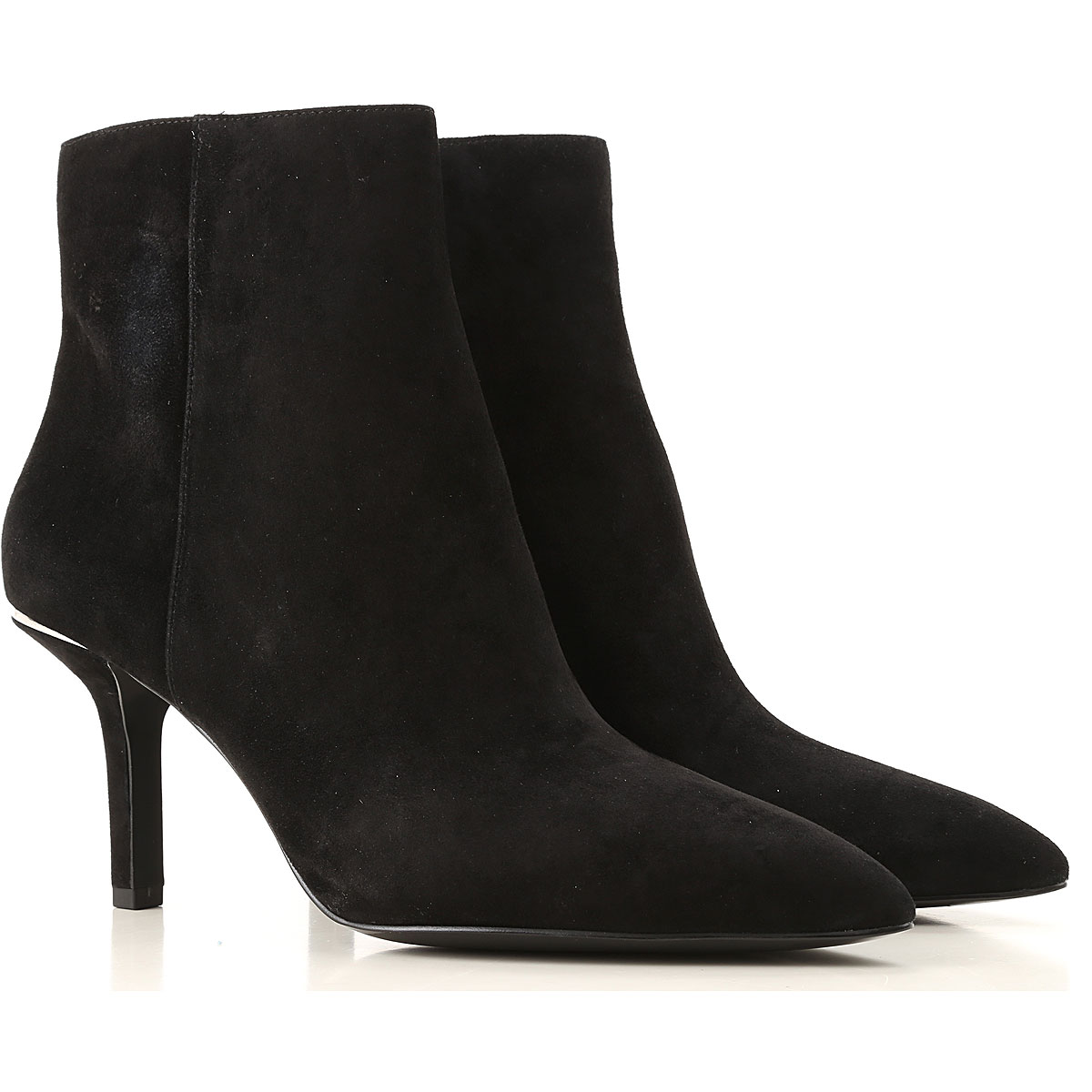 Michael Kors Boots for Women, Booties On Sale, Black, Suede leather, 2019, 6 7 8.5