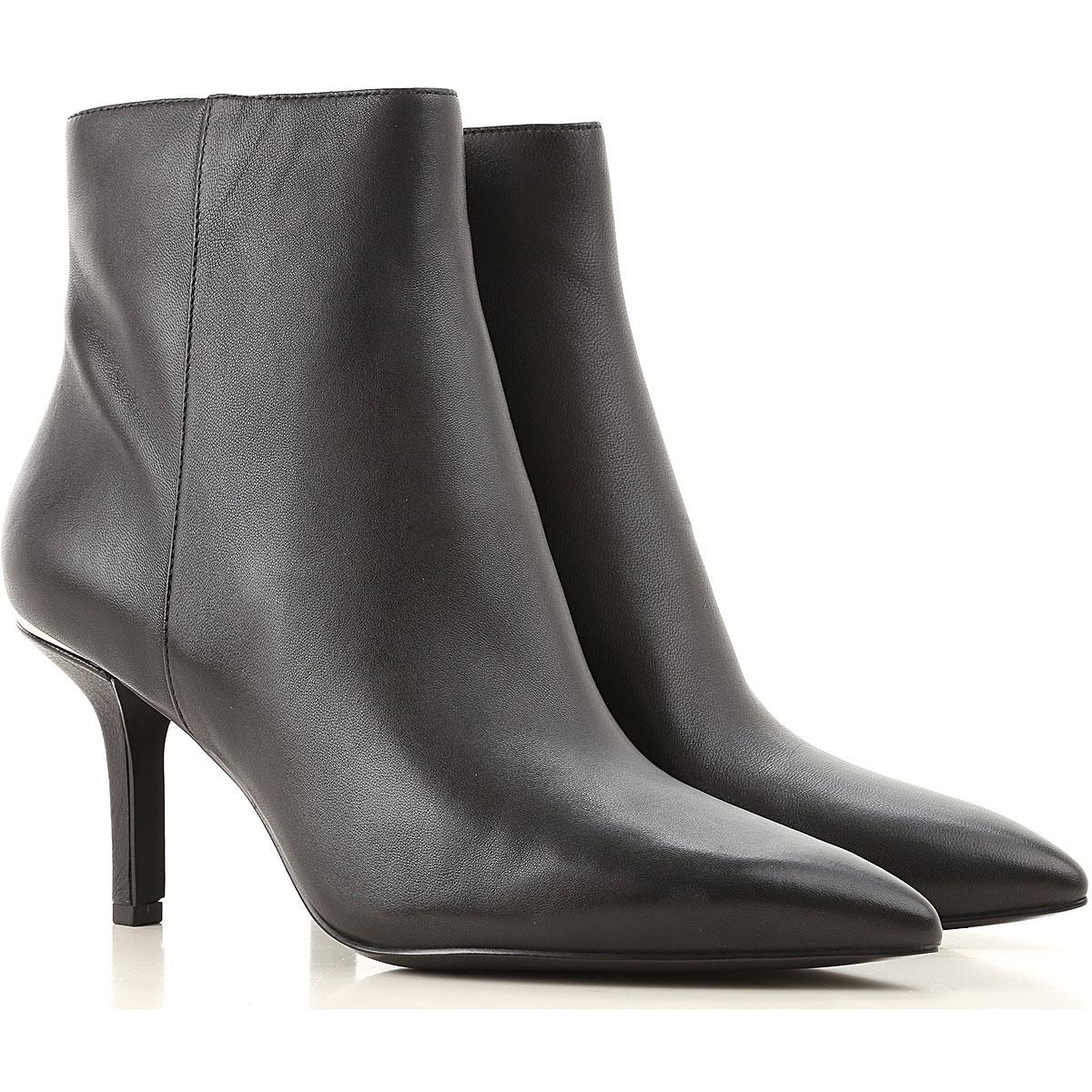 Michael Kors Boots For Women, Booties, Black, Leather, 2021, Us 9 (Eu 40) Us 8 (Eu 38.5)