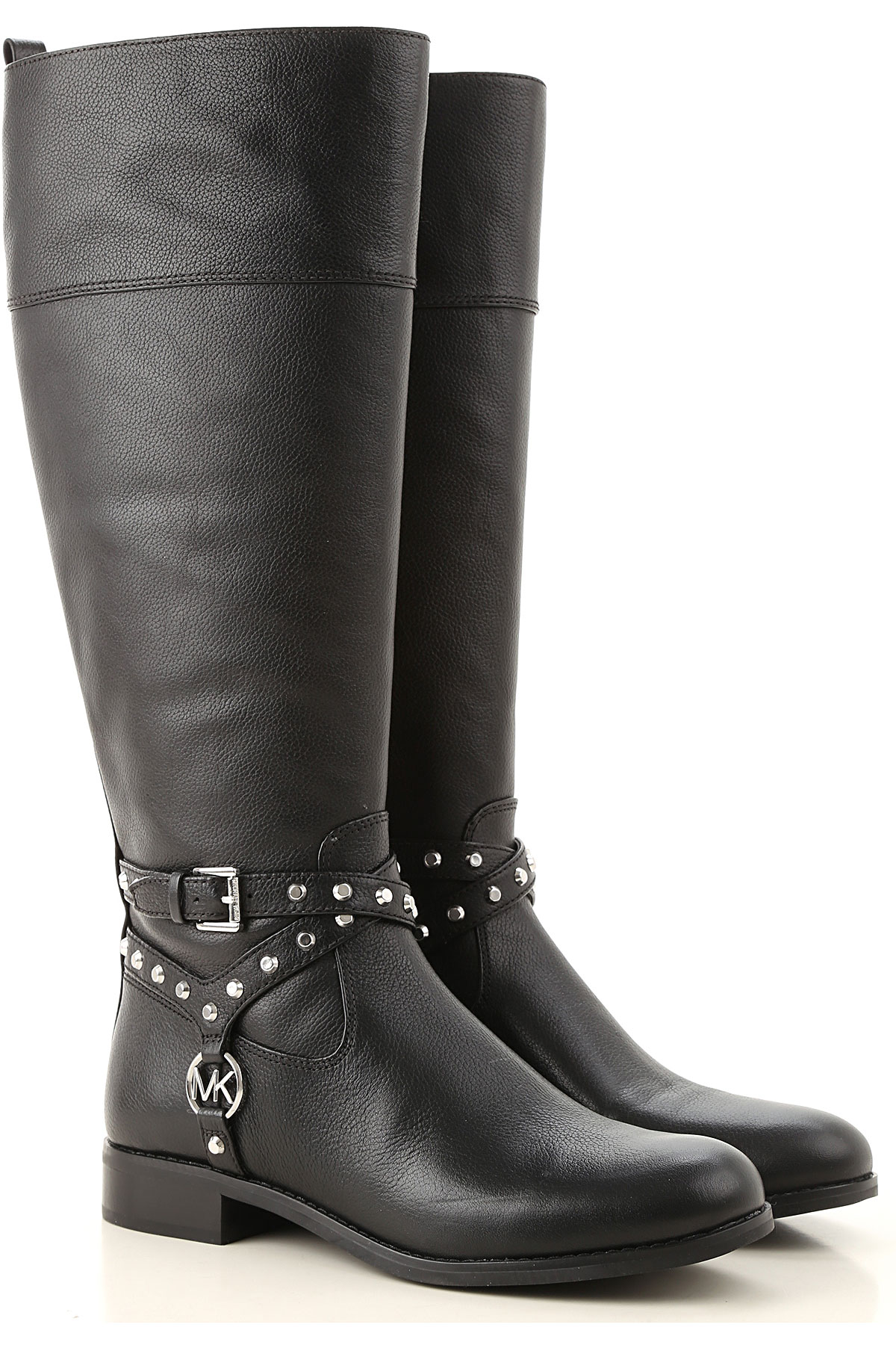 Michael Kors Boots for Women, Booties On Sale, Black, Leather, 2019, 6 7 8 9.5