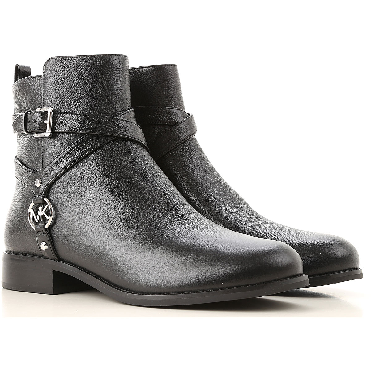 Michael Kors Boots for Women, Booties On Sale, Black, Leather, 2019, 6 7 8 9