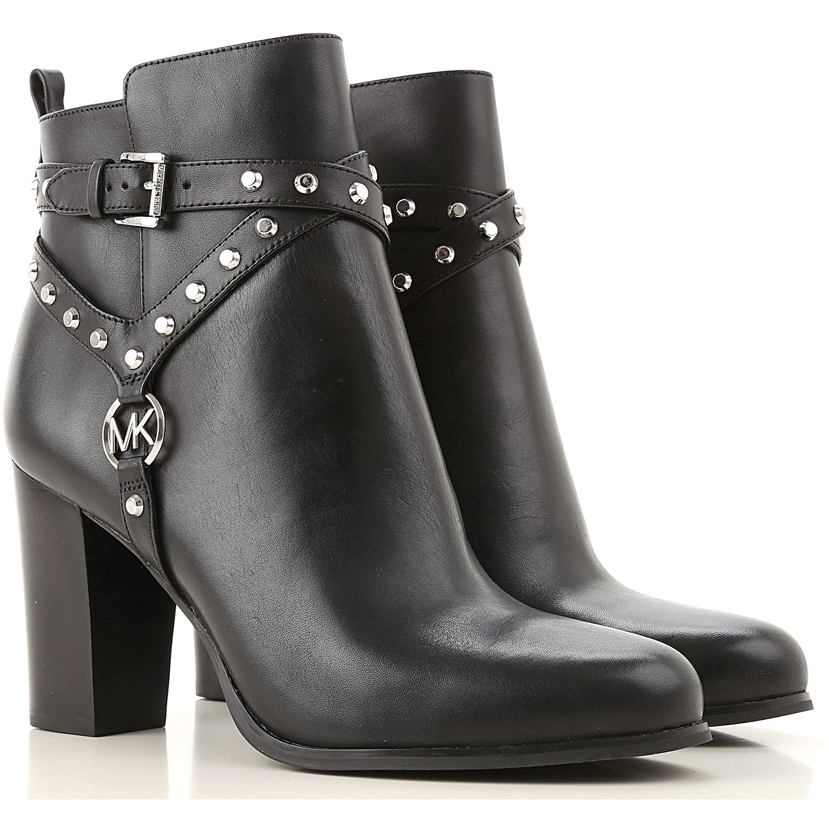 Michael Kors Boots for Women, Booties On Sale, Black, Leather, 2019, 10 7 8 9