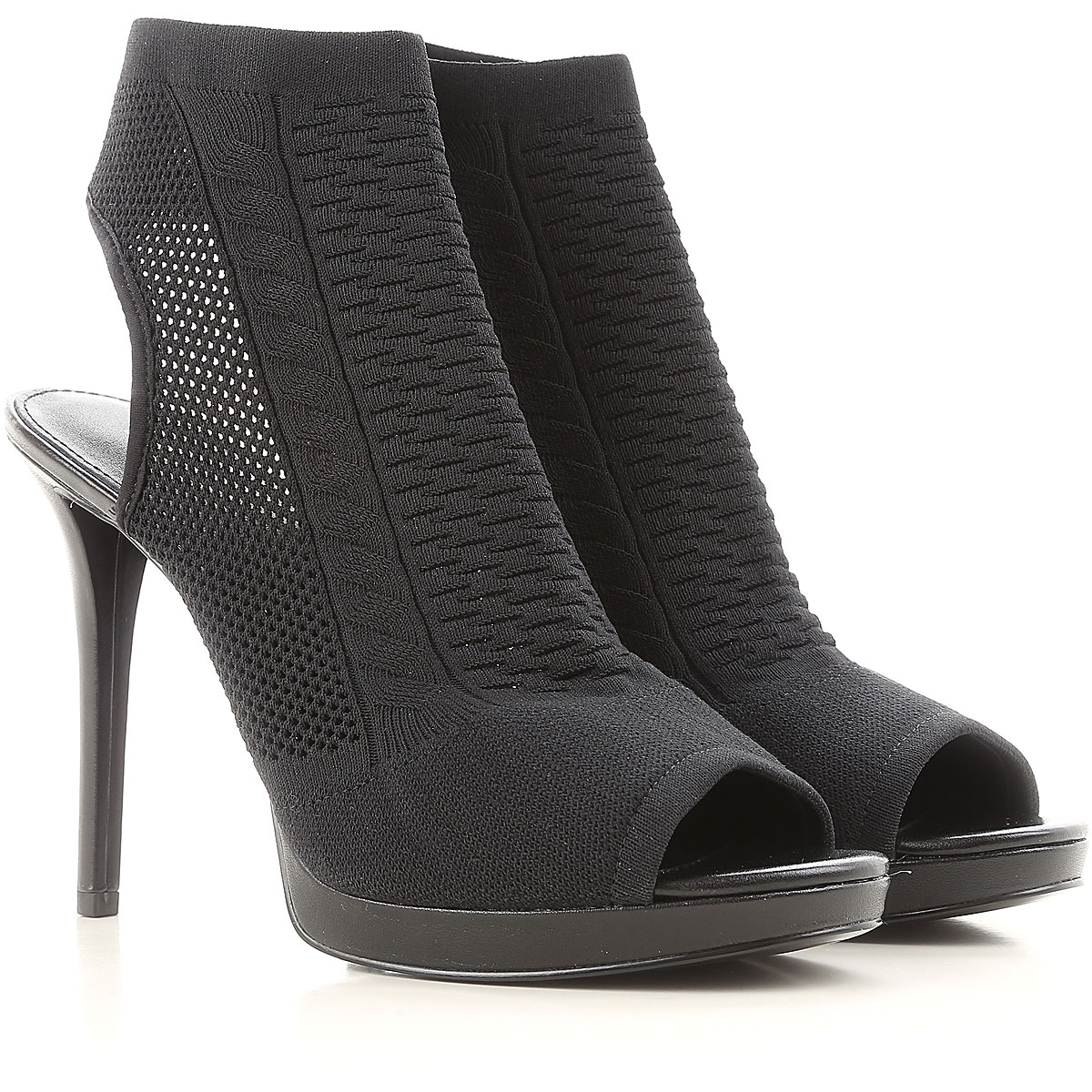 Michael Kors Peep Toe Open Shoes & Heels In Saldo, Nero, tessuto, 2019, 37 39