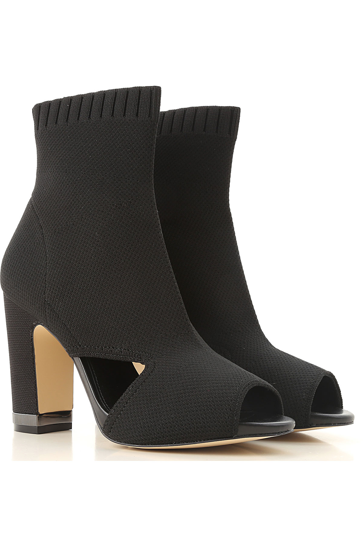 Michael Kors Boots for Women, Booties On Sale in Outlet, Black, Textile, 2019, 6.5 7