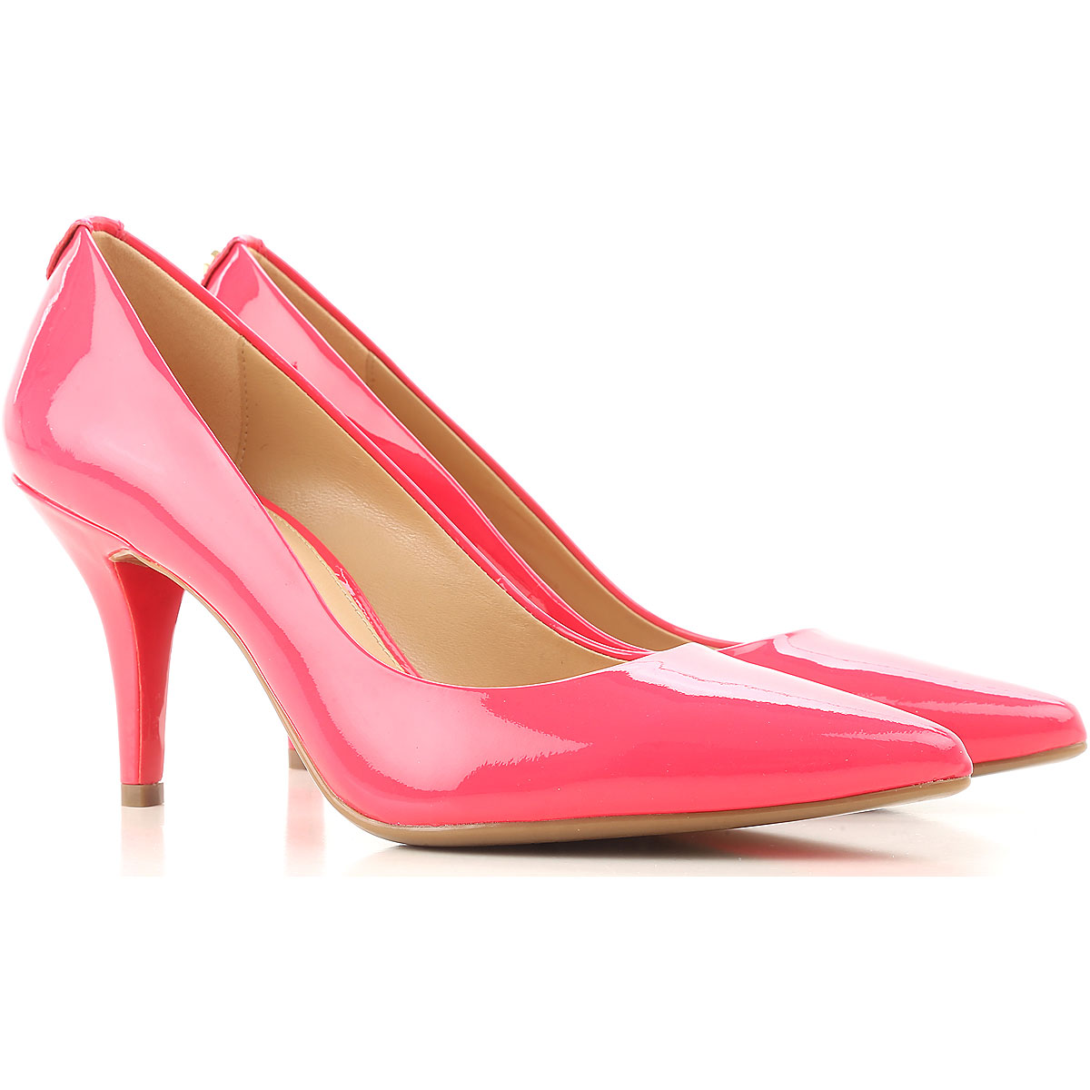 Michael Kors Pumps & High Heels for Women On Sale, fuxia, Patent, 2017, 4