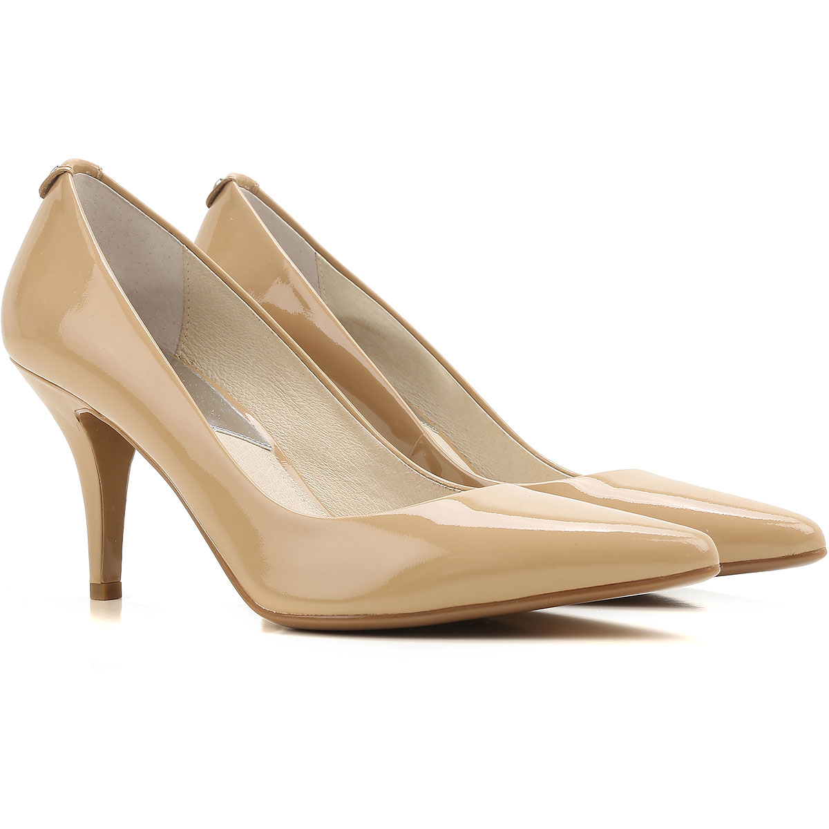 Michael Kors Pumps & High Heels for Women, Nude, Patent Leather, 2017, 10 7 USA-385960