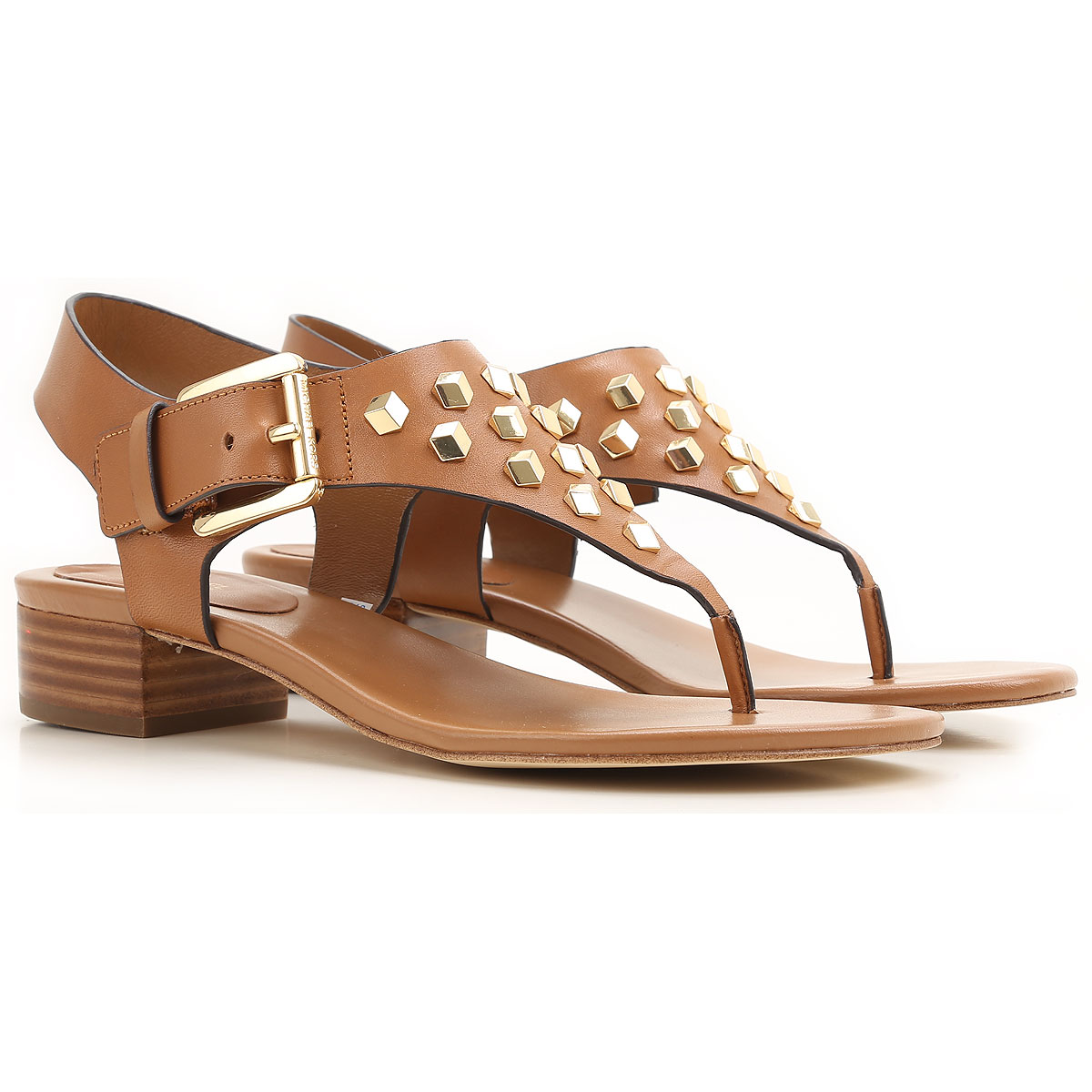 Michael Kors Sandals for Women On Sale in Outlet, Leather Brown, Leather, 2017, 4