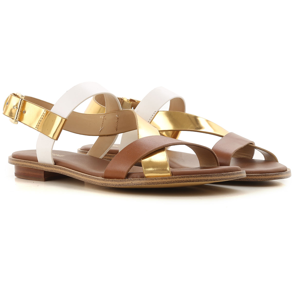 Image of Michael Kors Flip Flops Flat Sandals Womens On Sale, brown leather, Leather, 2017, 10 11 6.5 8 8.5