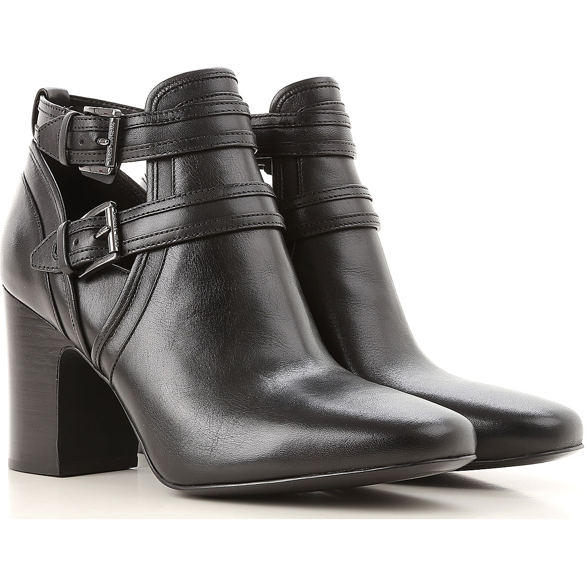 Michael Kors Boots for Women, Booties On Sale in Outlet, Black, Leather, 2019, 10 6.5 8.5