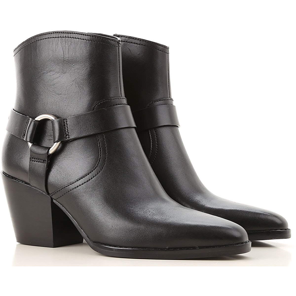 Michael Kors Boots for Women, Booties On Sale, Black, Leather, 2019, 10 5.5 6 6.5 7 8 9 9.5