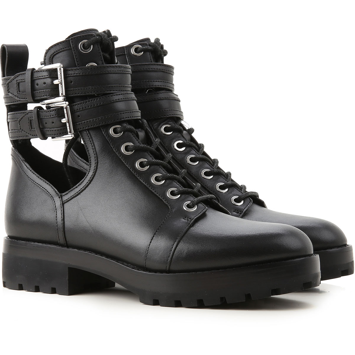 Michael Kors Boots for Women, Booties On Sale, Black, Leather, 2019, 10 6 8 8.5