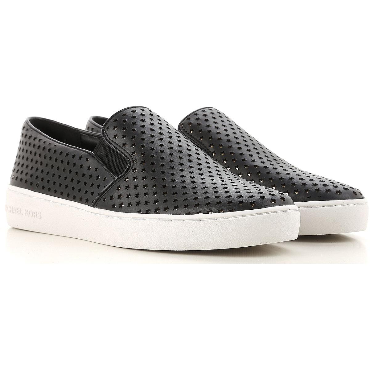 Michael Kors Slip on Sneakers for Women On Sale, Black, Leather, 2017, 3.5 4 4.5 5.5 6 7.5