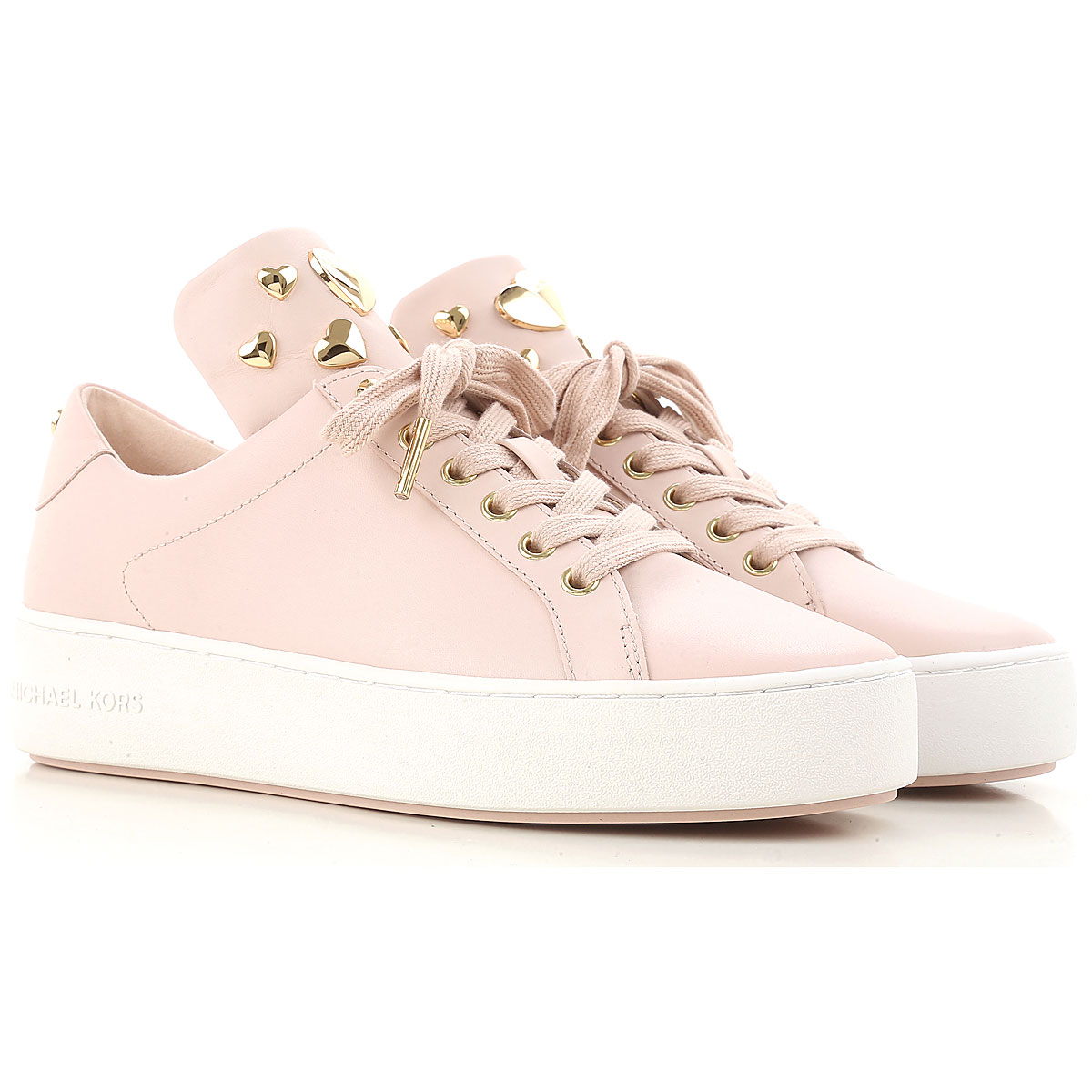 Michael Kors Sneakers for Women On Sale, soft pink, Leather, 2017, 3.5 4.5 5.5 6 7.5