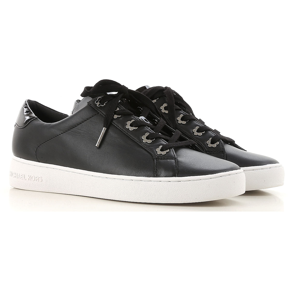 Michael Kors Sneakers for Women On Sale, Black, Leather, 2017, 3.5 4.5 5.5 7.5