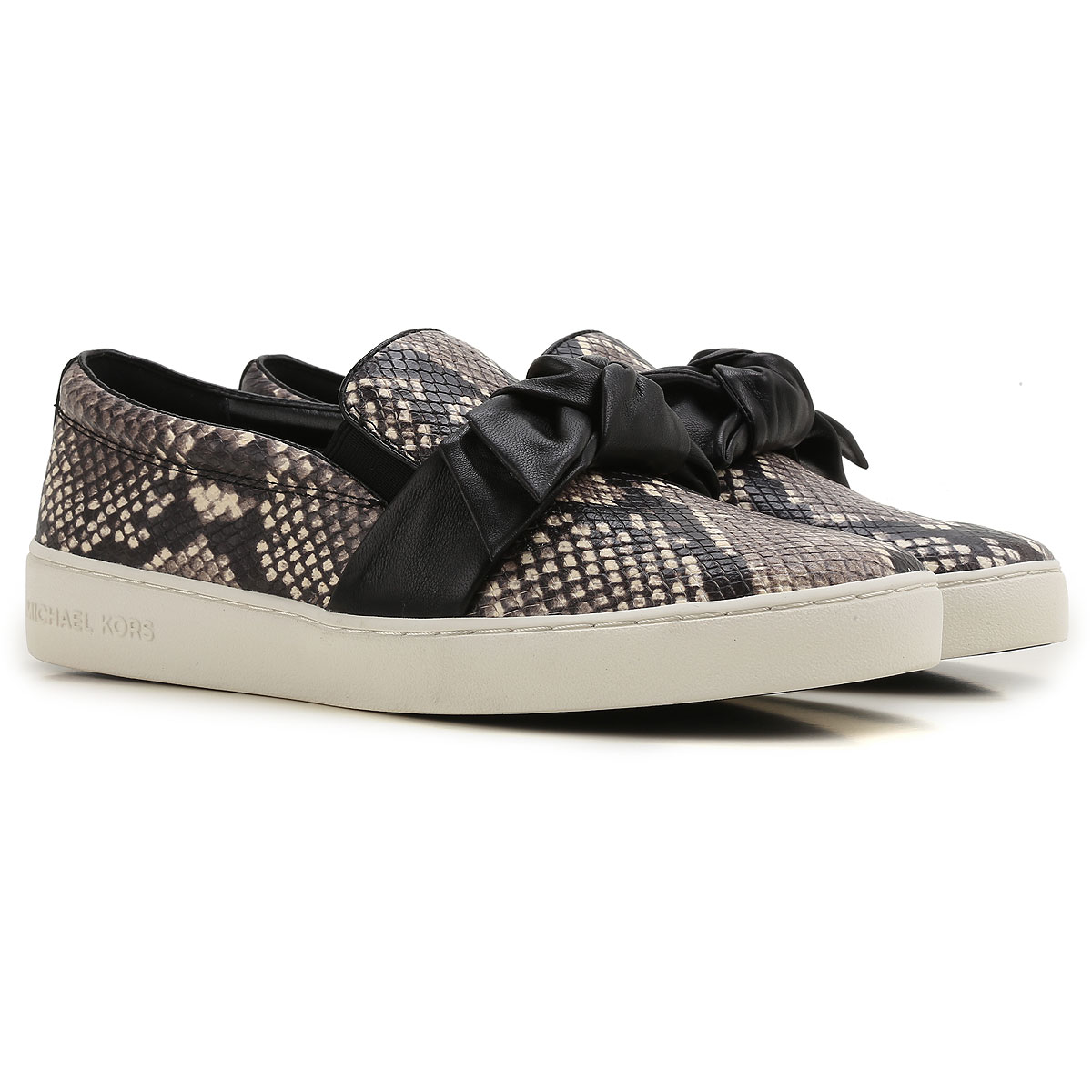 Michael Kors Slip on Sneakers for Women On Sale, Natural, Leather, 2017, 4.5