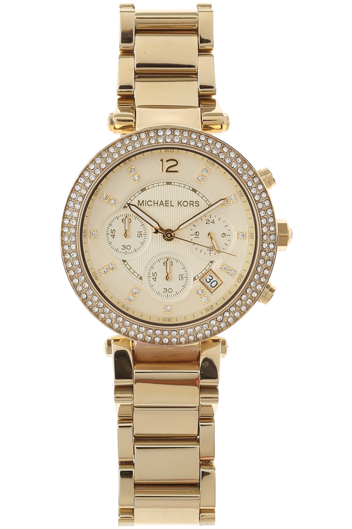 Michael Kors Watch for Women, Yellow Gold, Stainless Steel, 2017