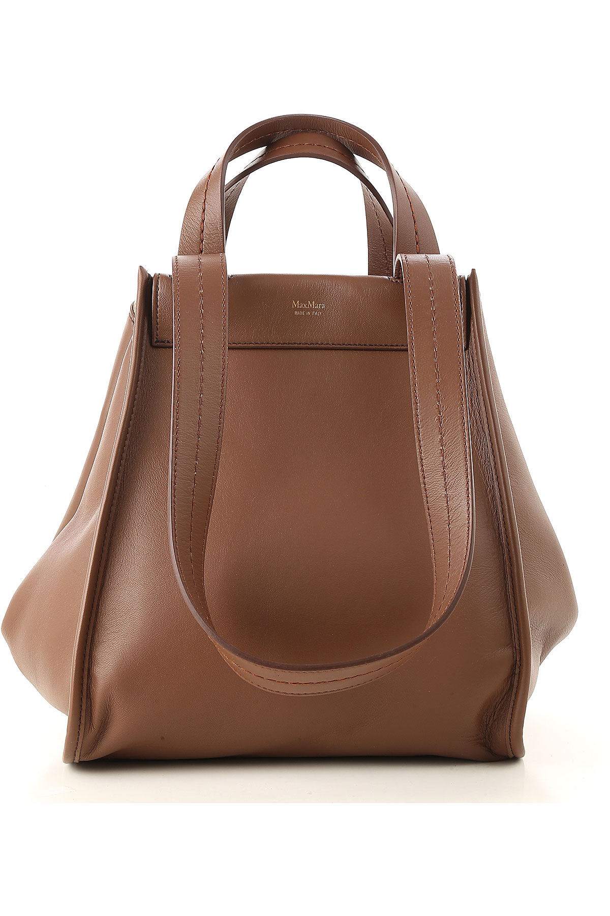 Image of Max Mara Tote Bag, Brown, Leather, 2017