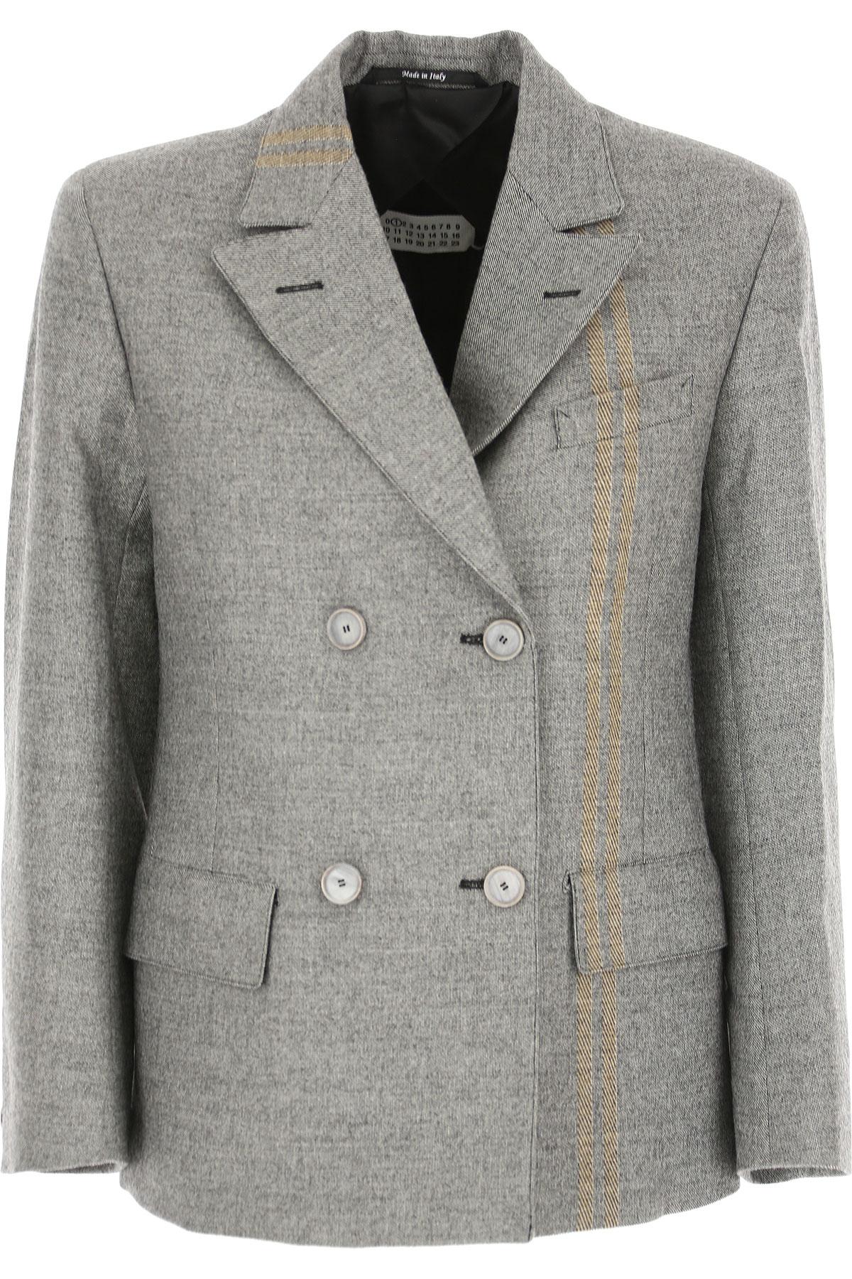Image of Maison Martin Margiela Blazer for Women, Grey, Virgin wool, 2017, UK 10 - US 8 - EU 42 UK 12 - US 10 - EU 44
