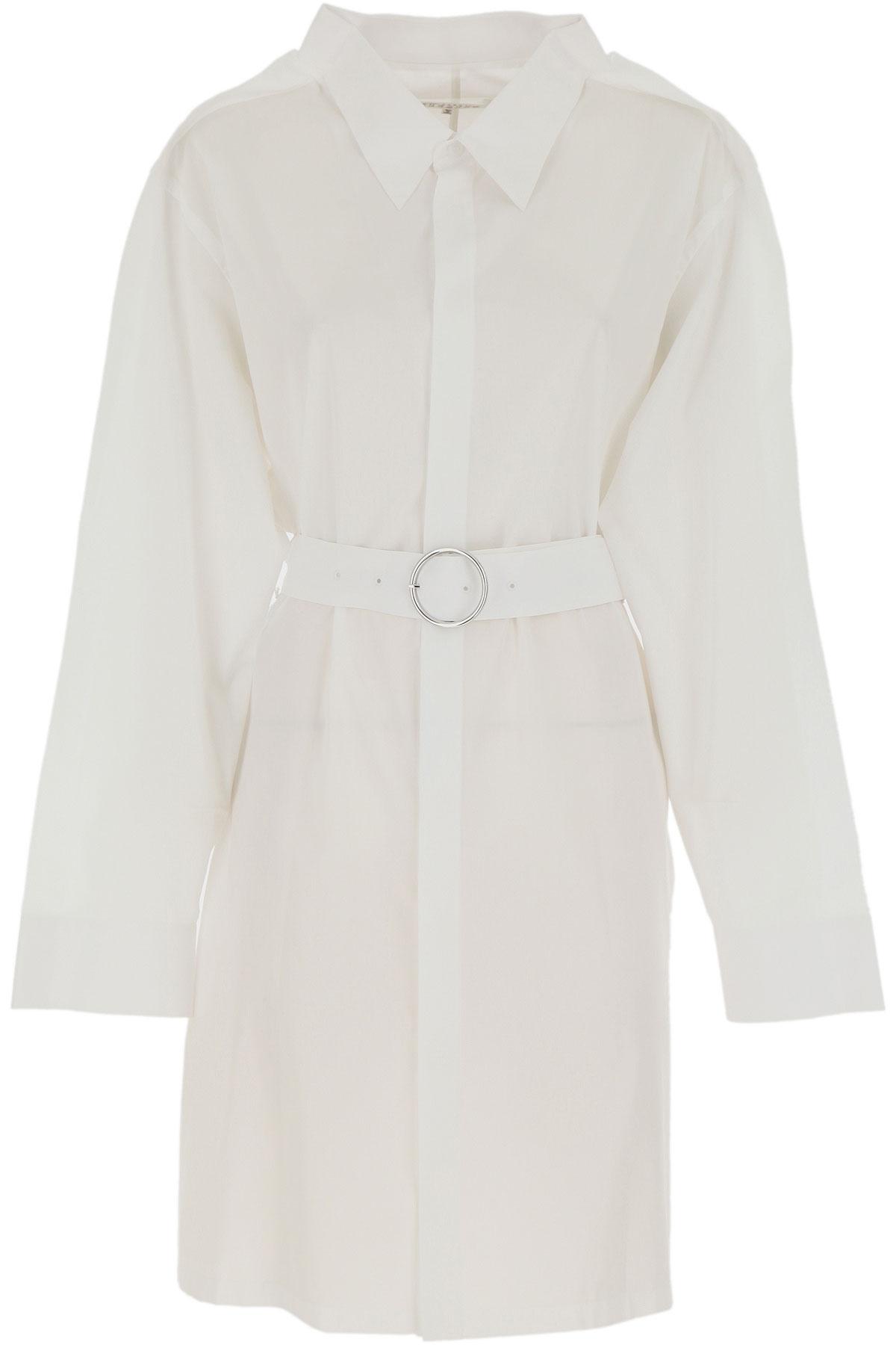 Maison Martin Margiela Dress for Women, Evening Cocktail Party On Sale, White, Cotton, 2019, 4 6