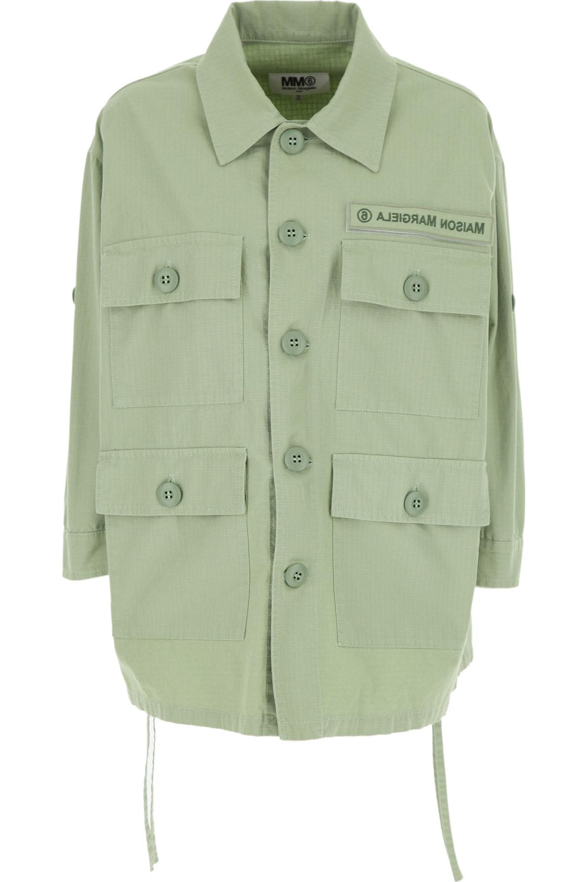 Maison Martin Margiela Jacket for Women On Sale, Mint Green, Cotton, 2019, 4 6