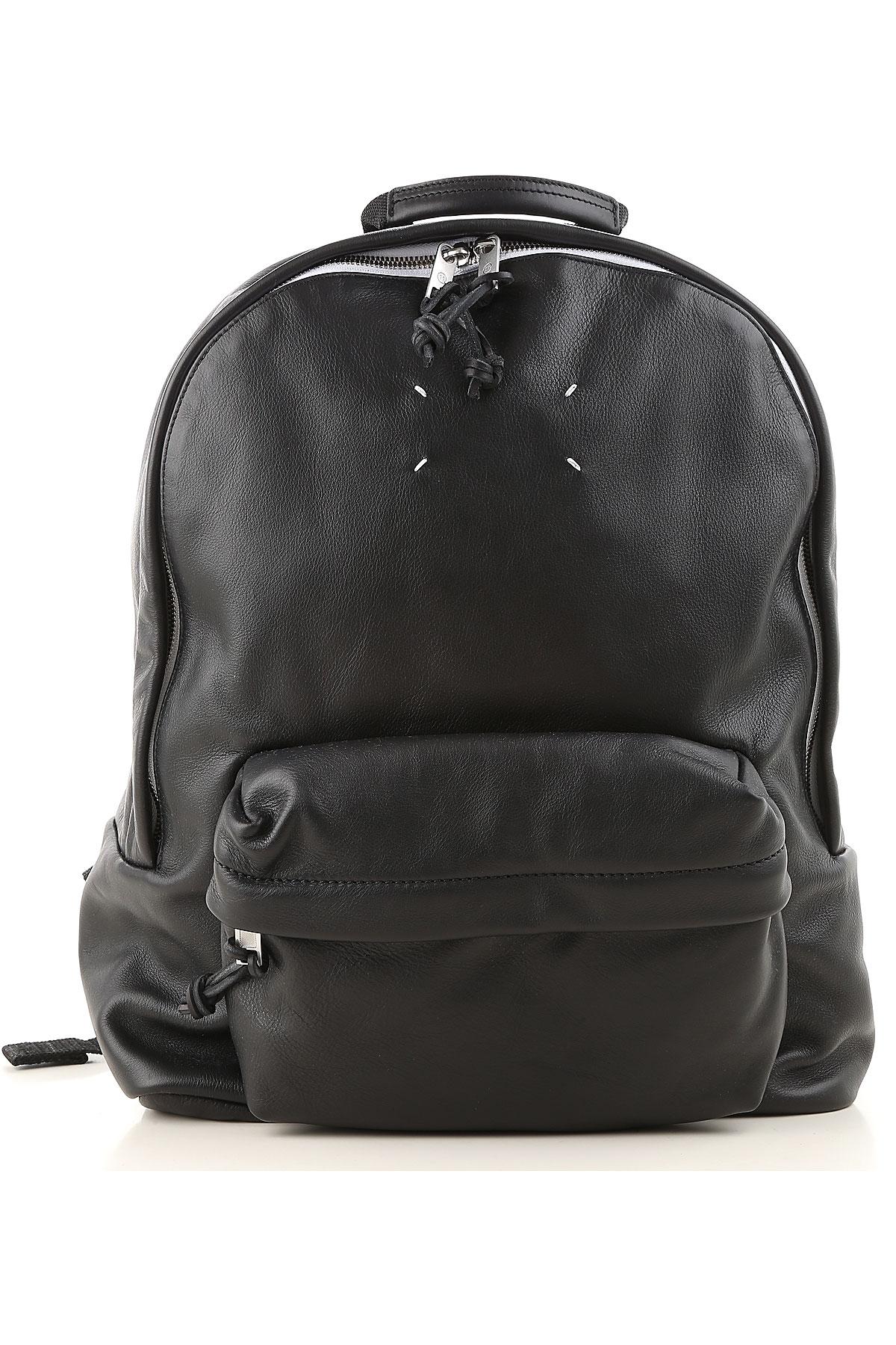 Image of Maison Martin Margiela Backpack for Women, Black, Leather, 2017