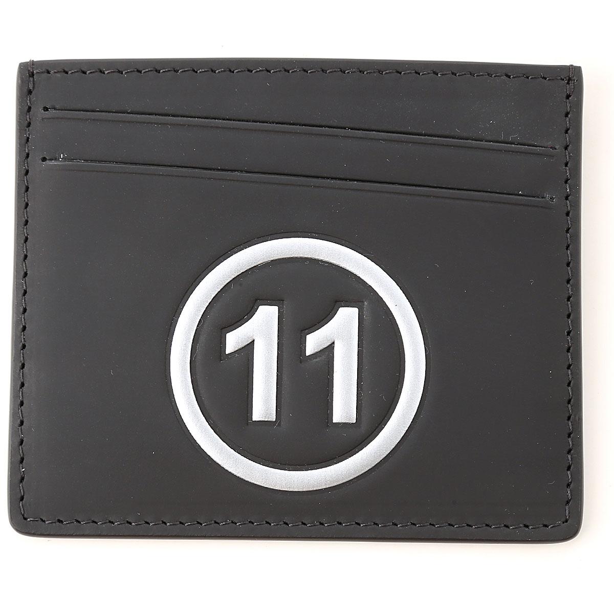 Maison Martin Margiela Card Holder for Men, Black, Leather, 2019