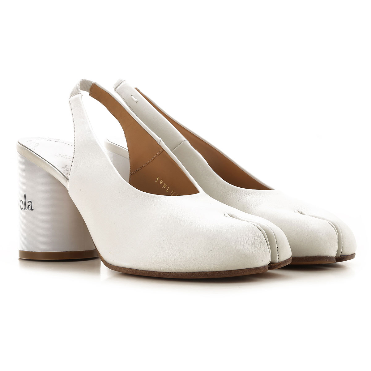 Maison Martin Margiela Pumps & High Heels for Women On Sale in Outlet, White, Leather, 2019, 8