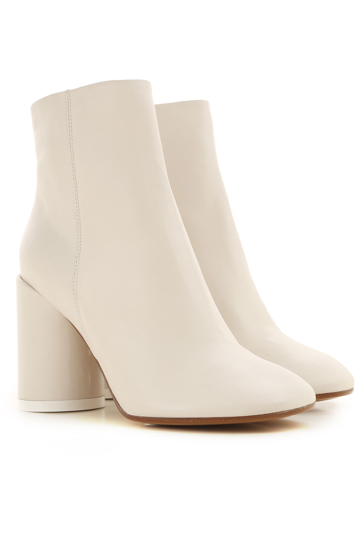 Maison Martin Margiela Boots for Women, Booties On Sale, White, Leather, 2019, 10 9