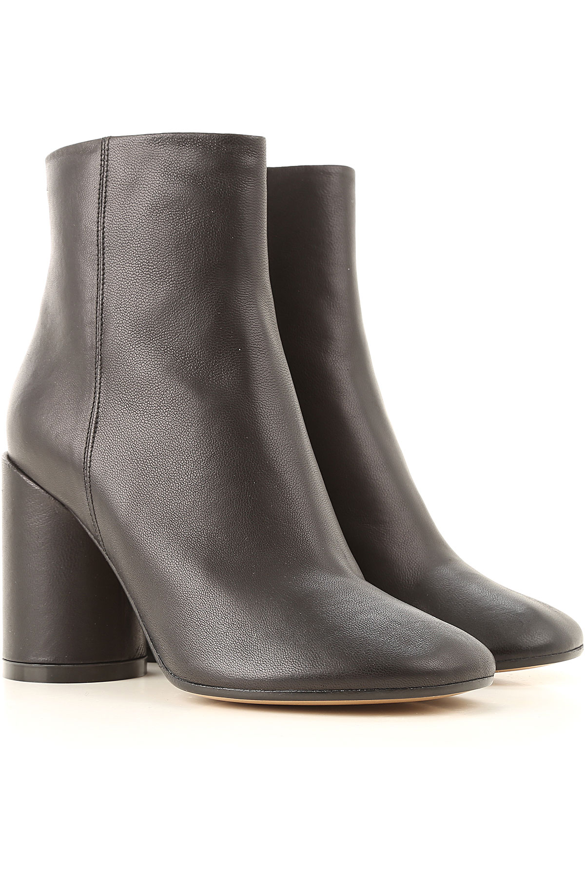 Maison Martin Margiela Boots for Women, Booties On Sale, Black, Leather, 2019, 10 6 7 8 9