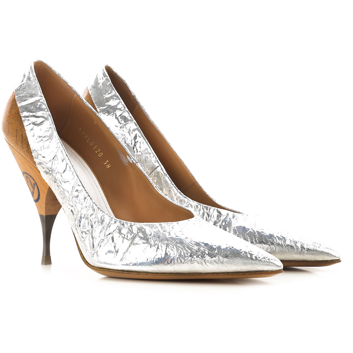 Maison Martin Margiela Pumps & High Heels for Women On Sale in Outlet, Silver, Metallic Leather, 2019, 8 9