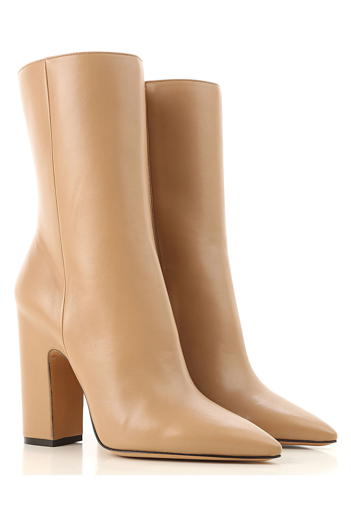 Image of Maison Martin Margiela Boots for Women, Booties, cappuccino, Leather, 2017, 10 6 7 8
