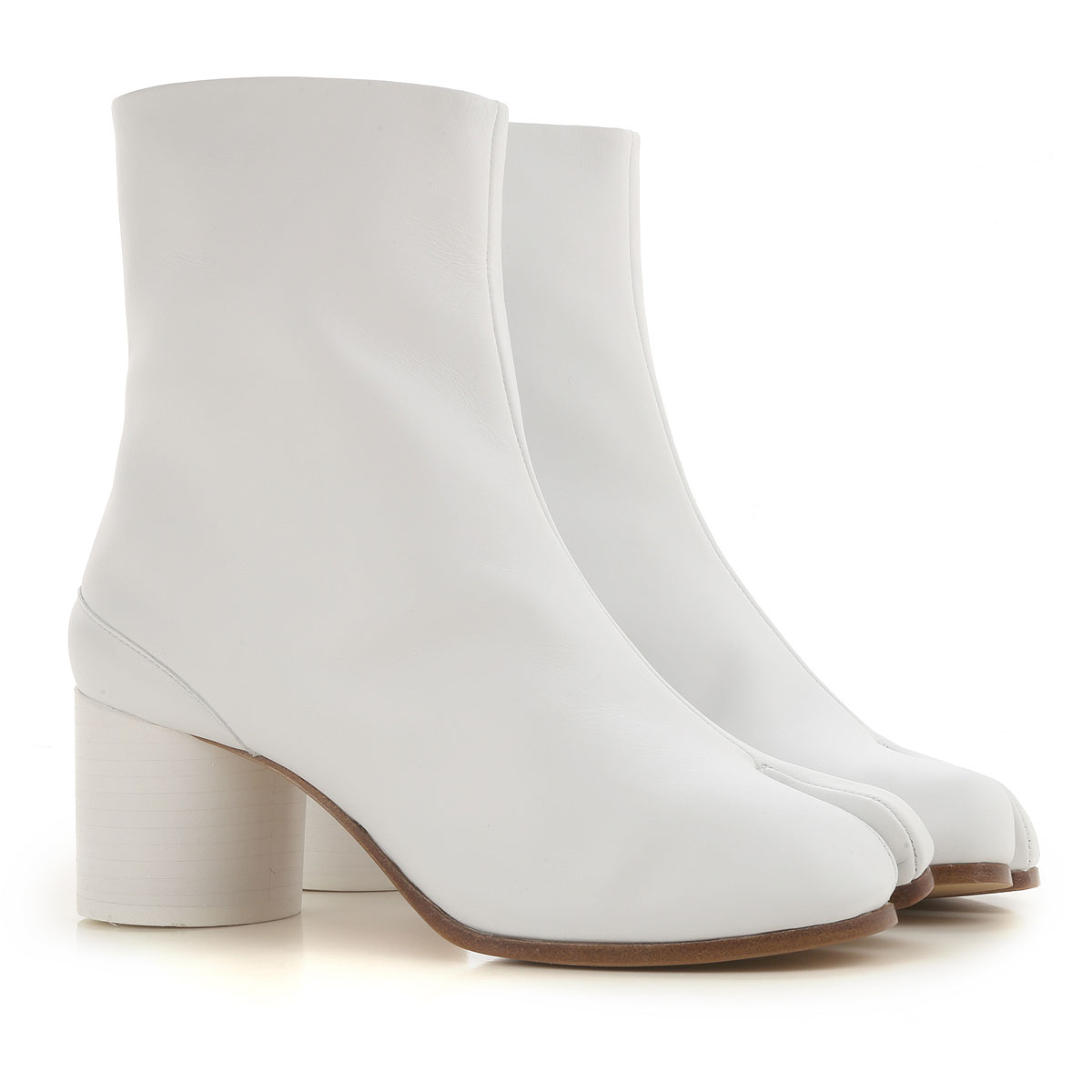 Maison Martin Margiela Boots for Women, Booties On Sale, White, Leather, 2019, 8.5 9