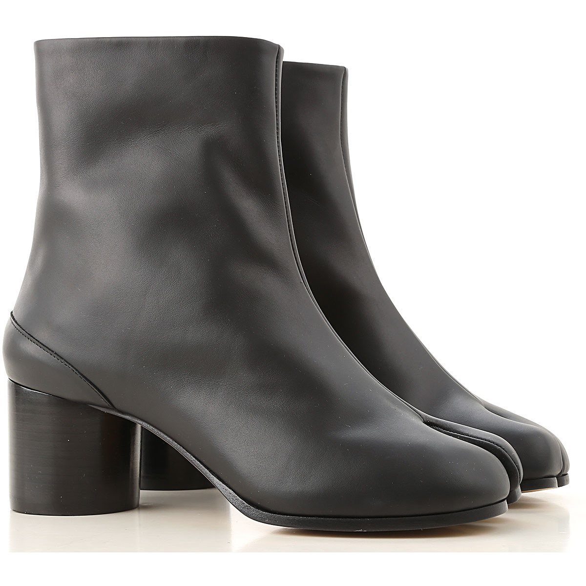 Maison Martin Margiela Boots for Women, Booties On Sale, Black, Leather, 2019, 10 9