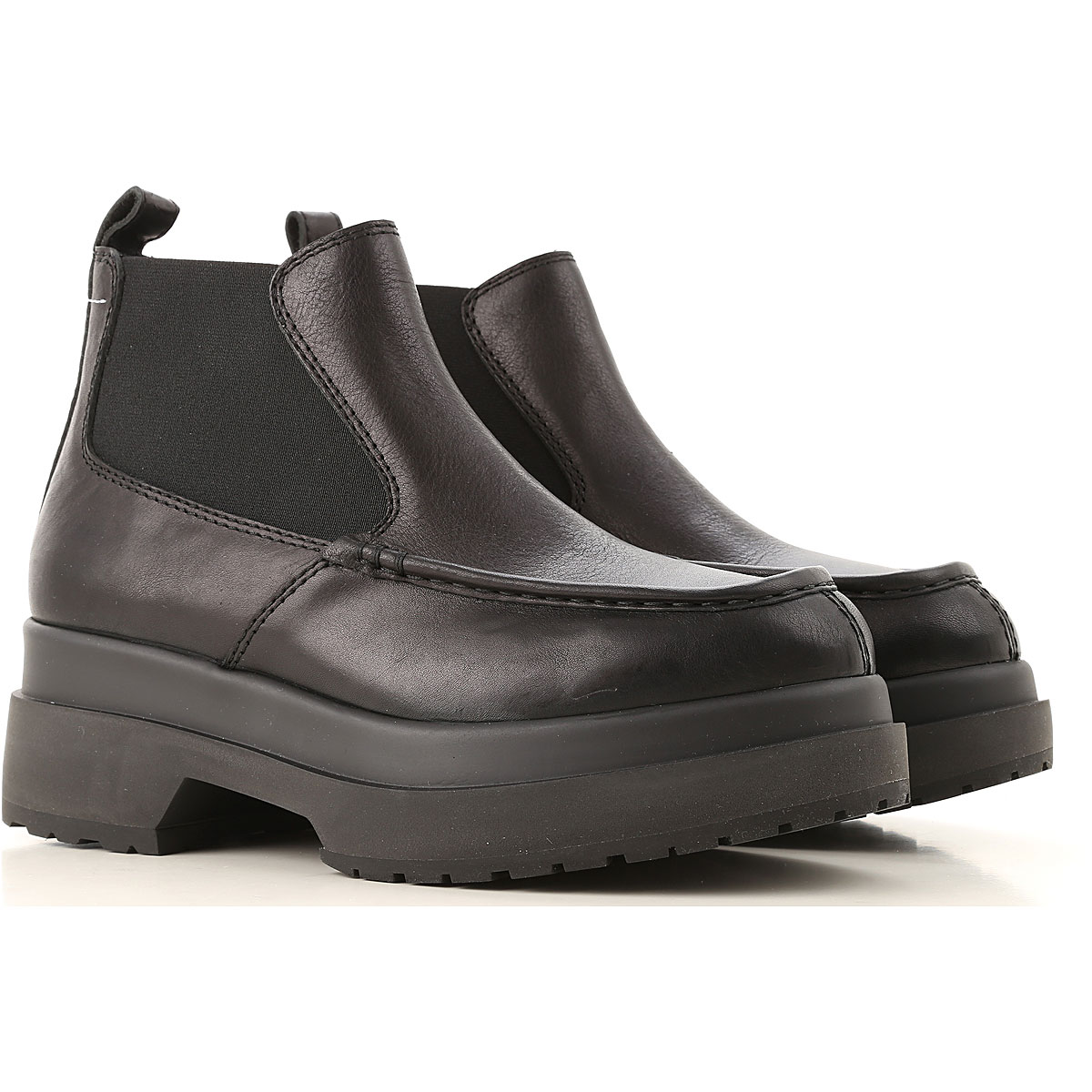 Maison Martin Margiela Chelsea Boots for Women On Sale in Outlet, Black, Leather, 2019, 5 7 8