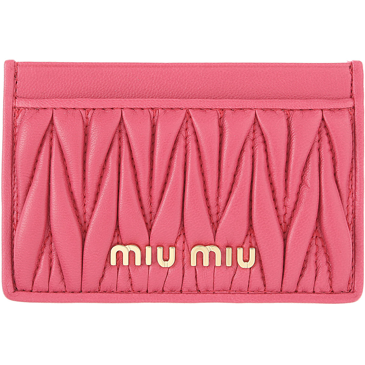 Miu Miu Card Holder for Women On Sale, Magenta, Leather, 2019