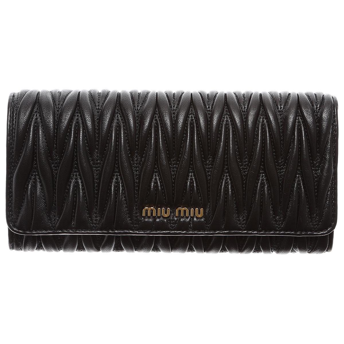Miu Miu Wallet for Women On Sale, Black, Leather, 2019