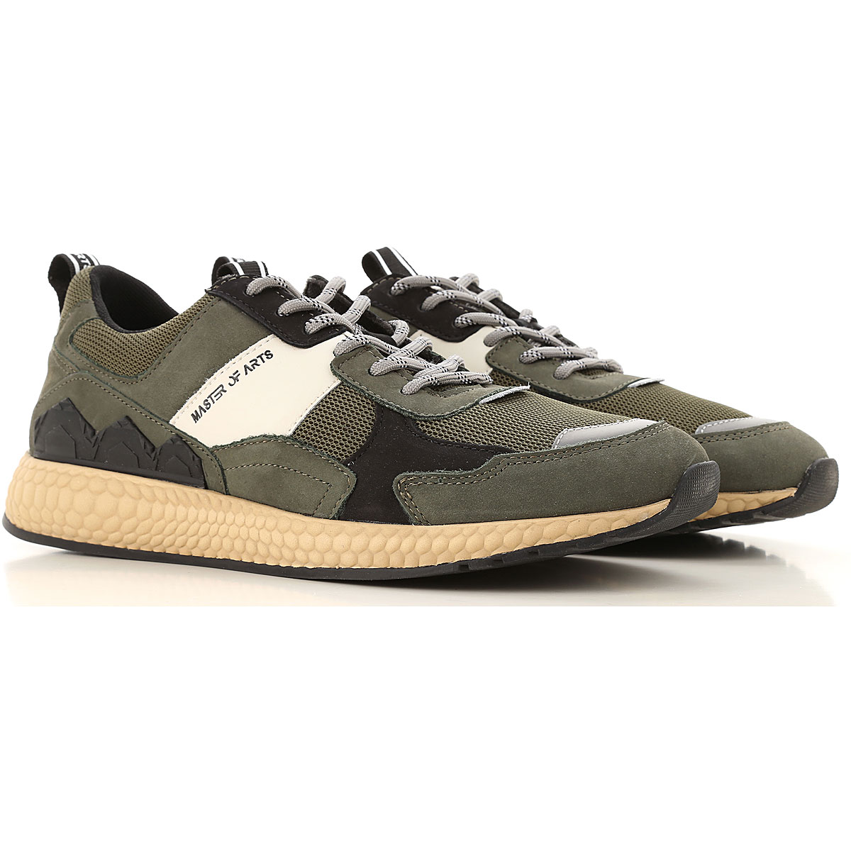 Moa Master of Arts Sneakers for Men On Sale, Military Green, Suede leather, 2019, 10 10.5 11.5 8 9