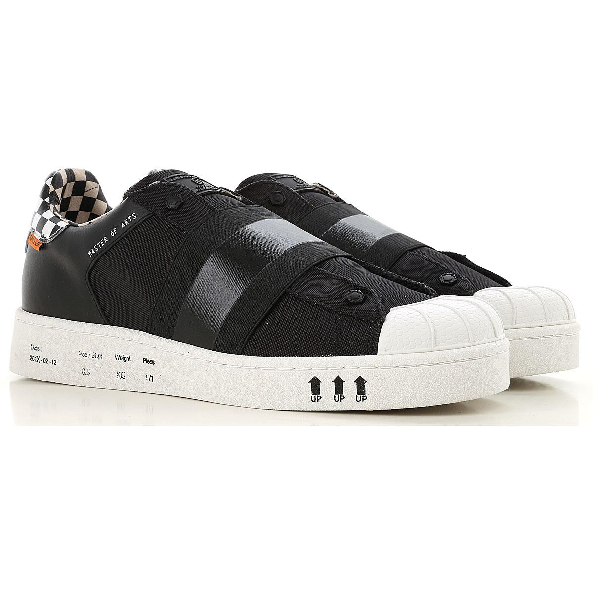 Image of Moa Master of Arts Slip on Sneakers for Men, Black, Nylon, 2017, 10 10.5 7.5 8 9