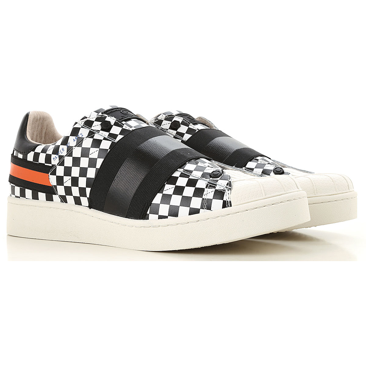 Image of Moa Master of Arts Slip on Sneakers for Men, Black, Leather, 2017, 10 10.5 7.5 8 9