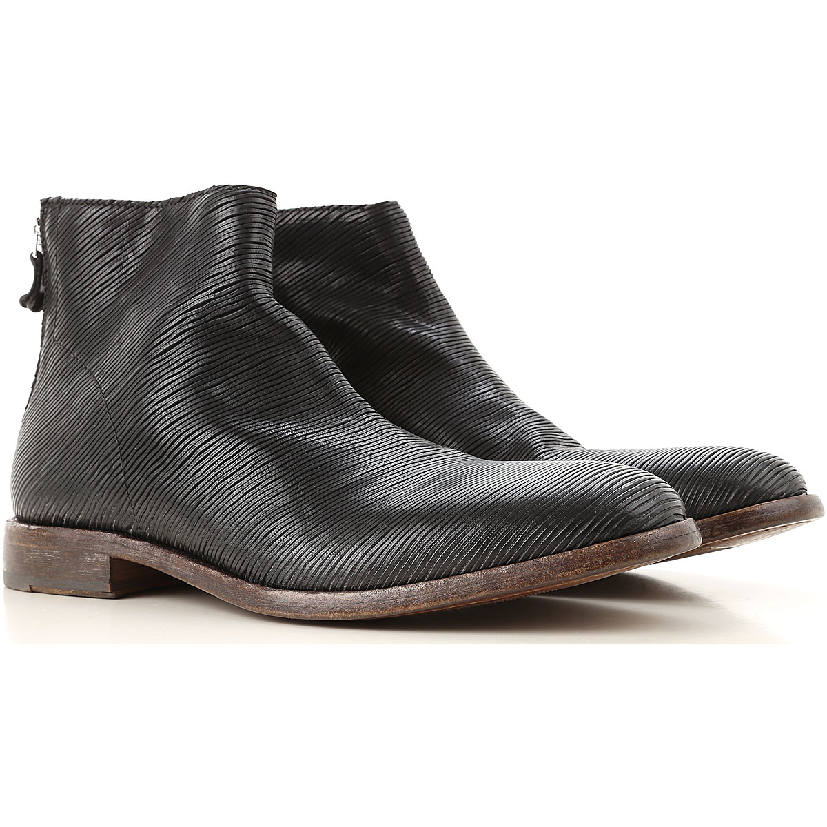 Moma Boots for Men, Booties On Sale, Black, Leather, 2019, 7.5 8 9