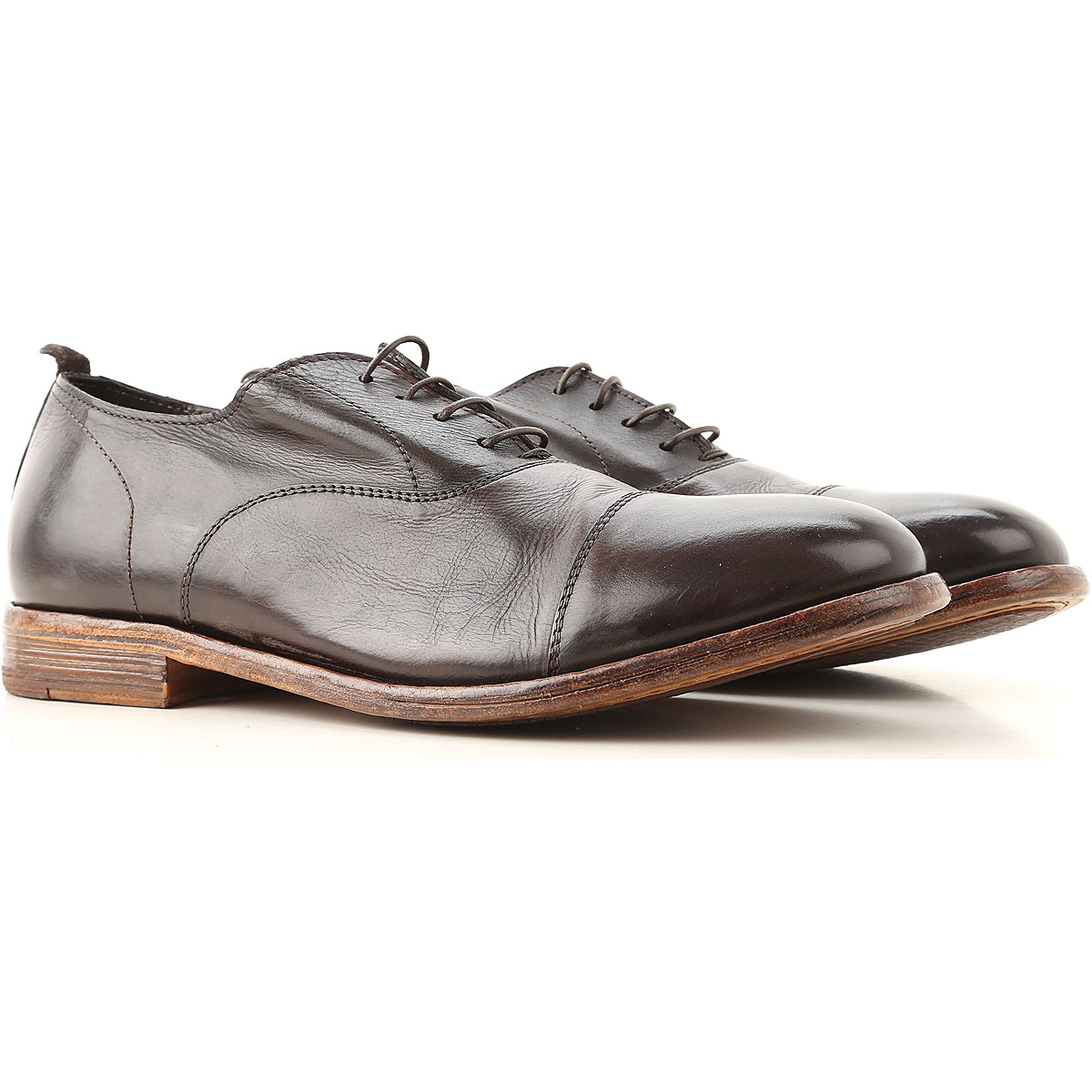 Moma Lace Up Shoes for Men Oxfords, Derbies and Brogues On Sale, Dark Brown, Leather, 2019, 10 7.5 8 9