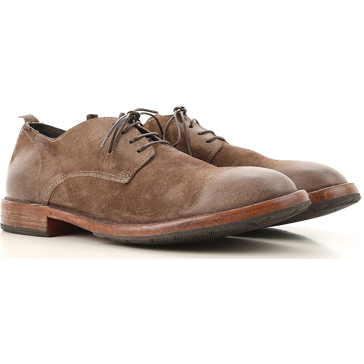 Moma Lace Up Shoes for Men Oxfords, Derbies and Brogues On Sale, Ash Brown, Leather, 2019, 10 7.5 8 9