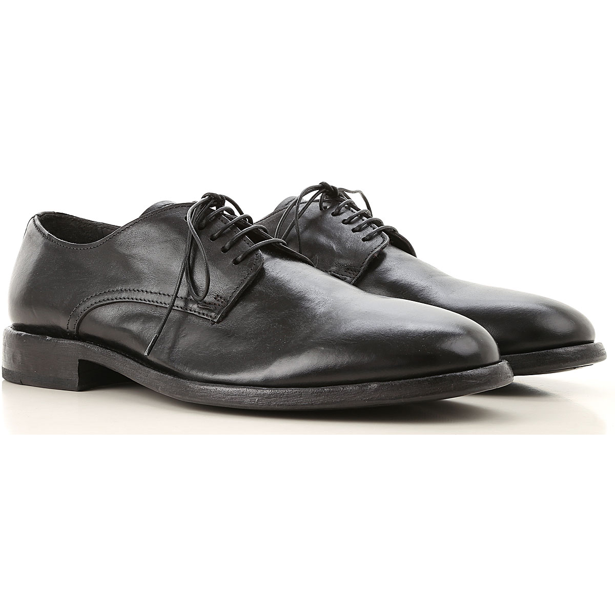 Moma Lace Up Shoes for Men Oxfords, Derbies and Brogues On Sale, Black, Leather, 2019, 8 9