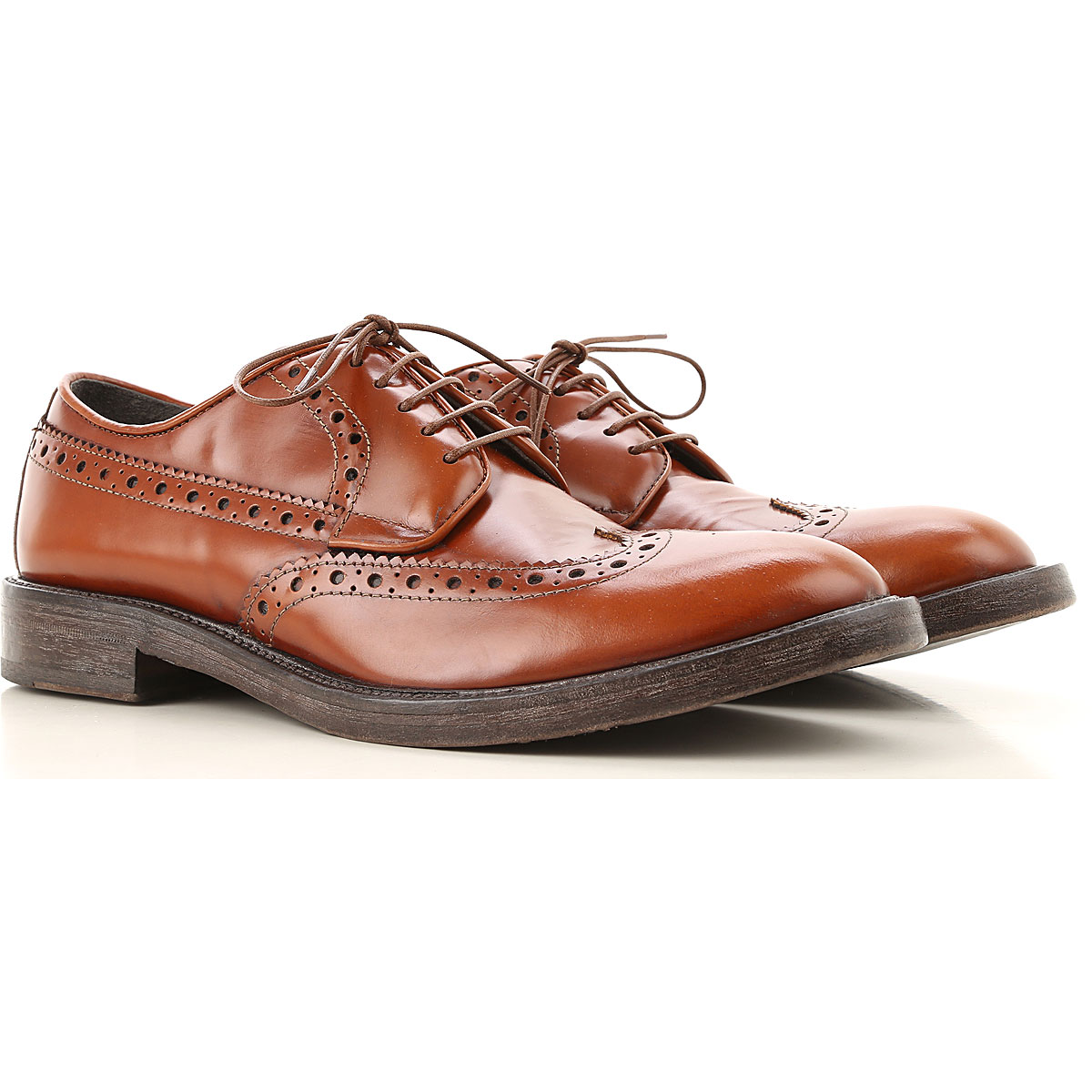 Moma Lace Up Shoes for Men Oxfords, Derbies and Brogues On Sale, brown leather, Leather, 2019, 10 7.5 8 9