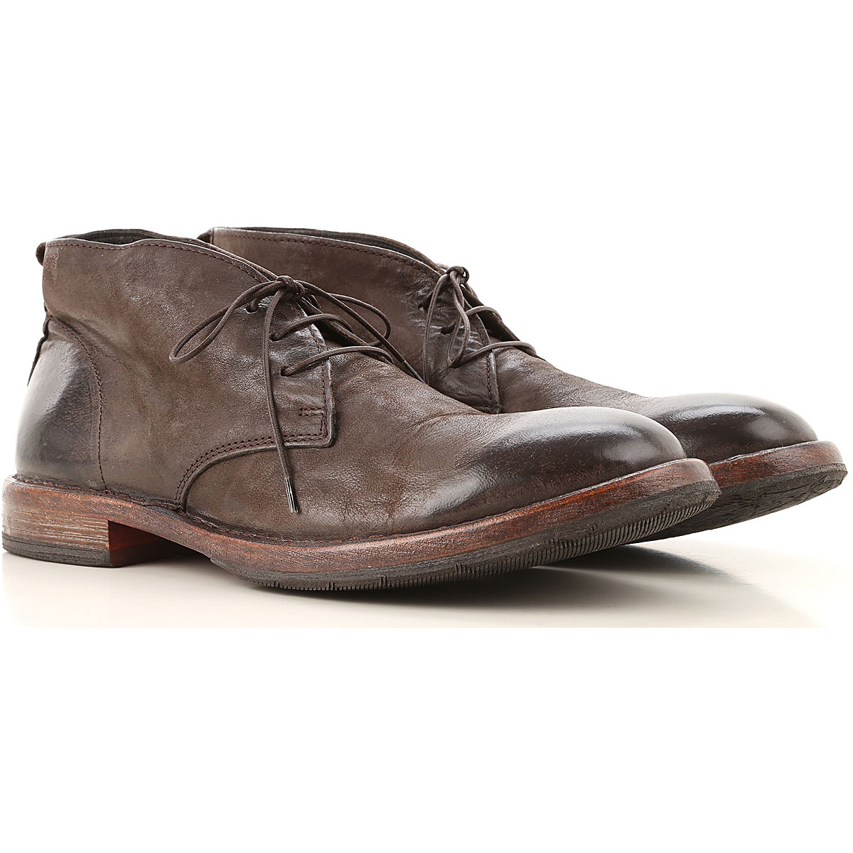 Moma Lace Up Shoes for Men Oxfords, Derbies and Brogues On Sale, Coffee, Leather, 2019, 10.5 9