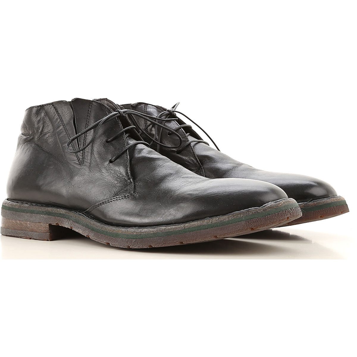 Moma Lace Up Shoes for Men Oxfords, Derbies and Brogues On Sale, Black, Leather, 2019, 10.5 8 9