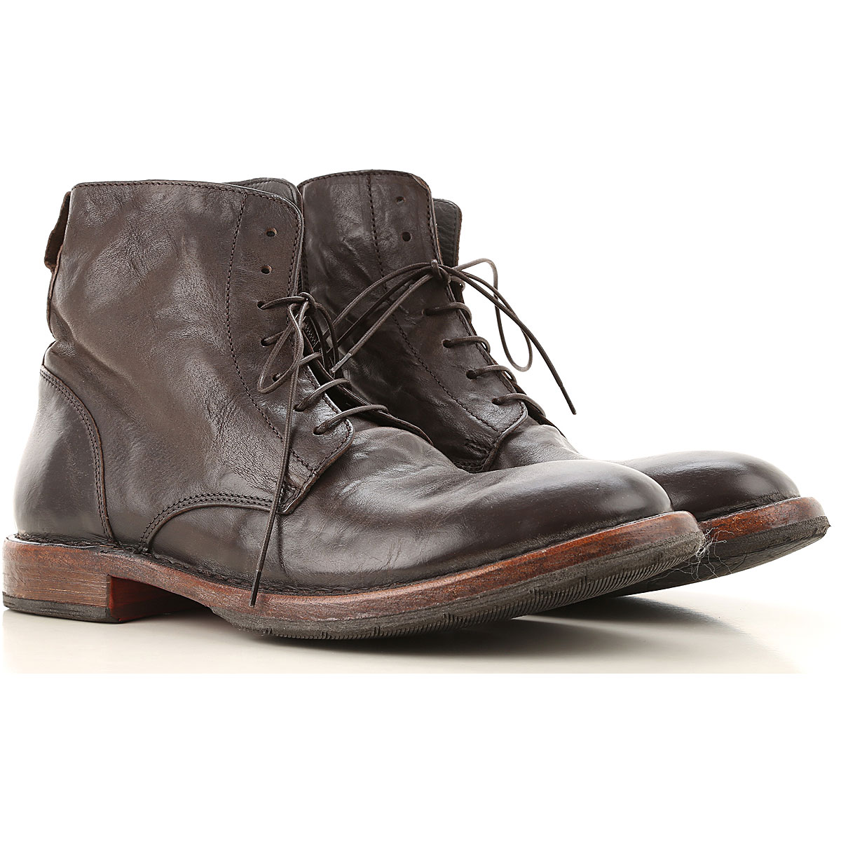 Moma Boots for Men, Booties On Sale, Dark Brown, Leather, 2019, 10 7.5