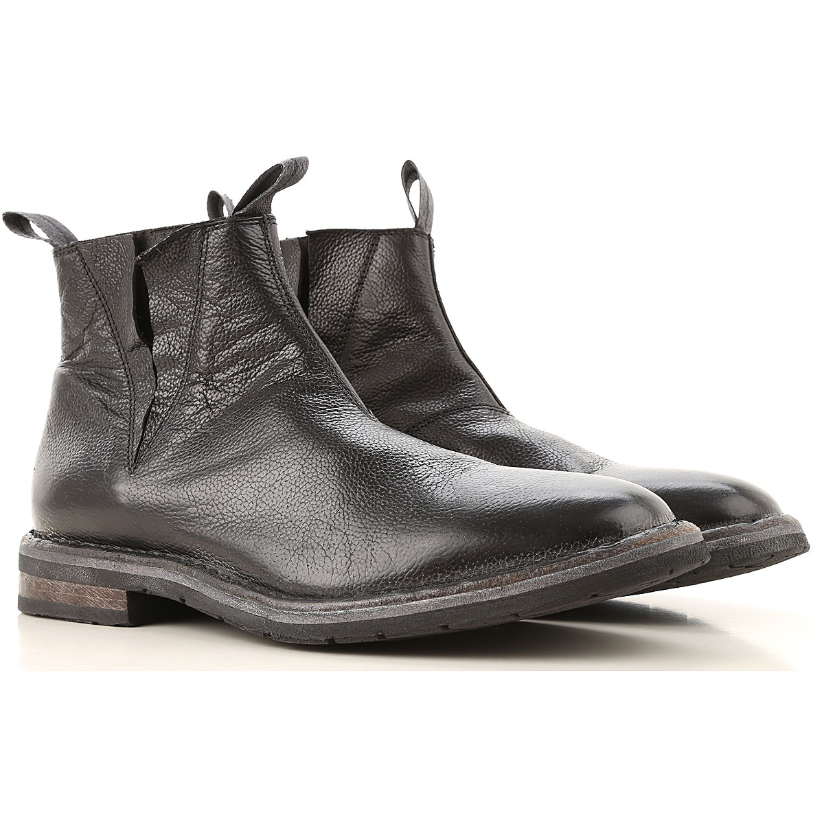 Moma Chelsea Boots for Men On Sale, Black, Leather, 2019, 10 8 9